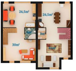 Вариант 1 - 1 этаж