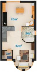 1 этаж (1 вариант)
